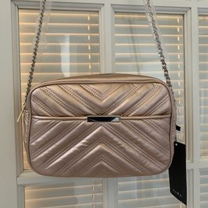 NWT ZARA Pink Quilted Crossbody Chain Bag
